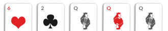 3 of a kind card hand omaha
