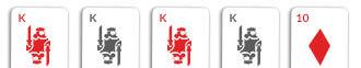 4 of a kind card hand omaha