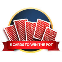 5 cards to win the pot deuce to seven triple draw badge