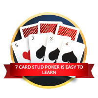 7 card stud poker easy to learn badge