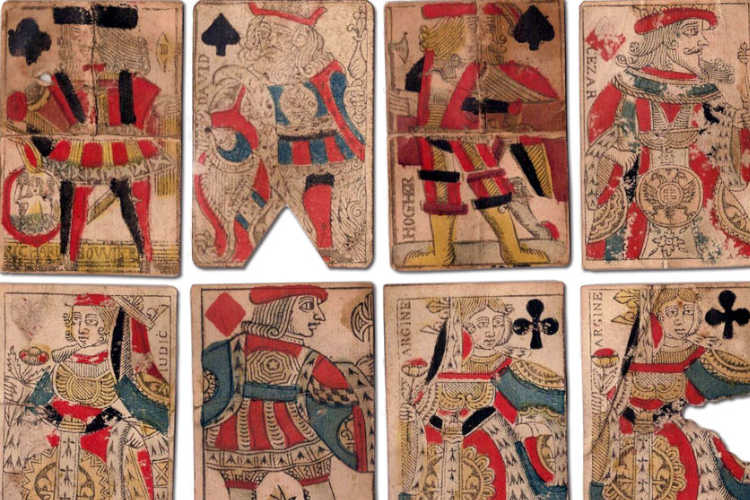 17th century French playing cards.