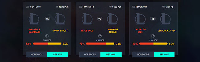 different odds esports
