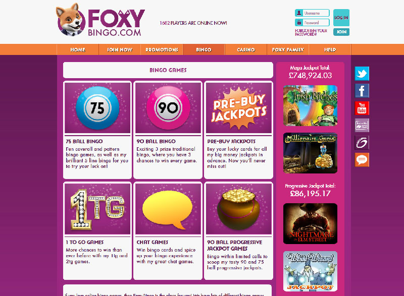 Foxy Bingo Online Review 2018   Online Gambling Expert