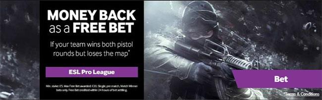 money back free bet esports image