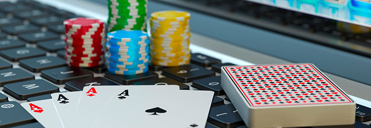online casino tips and tricks cards on laptop