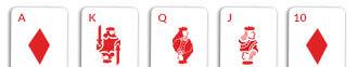 royal flush card hand omaha