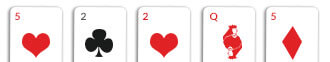 two pairs card hand omaha